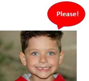 boy saying please