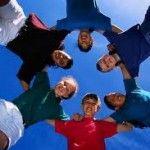 teens forming a circle