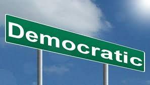 sign saying democratic