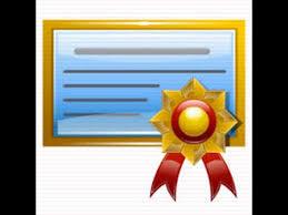 license/certificate