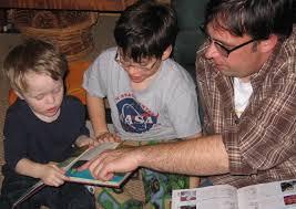parent teaching children
