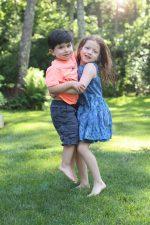 Jordan and Dylan hugging