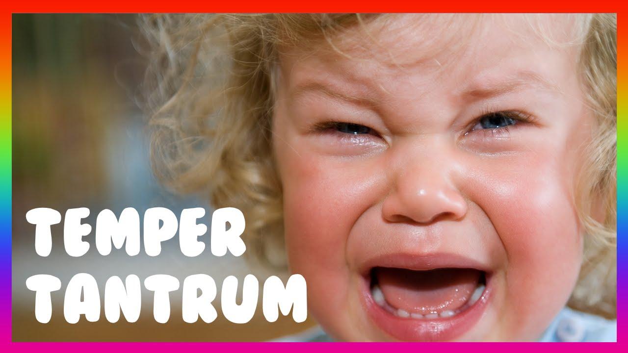 toddler having temper tantrum