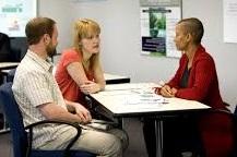 parents meeting with a teacher