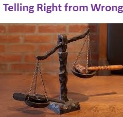 telling right from wrong-scales