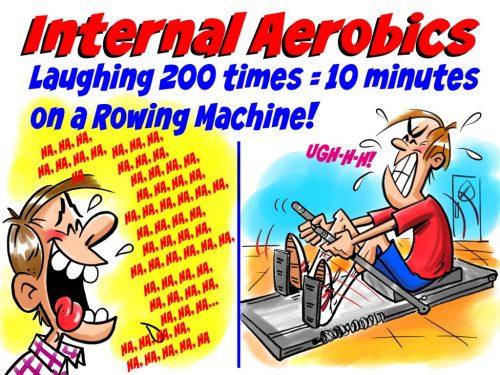 Laughter provides internal aerobics