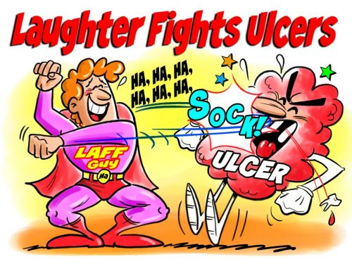 Laughter fights Ulcers