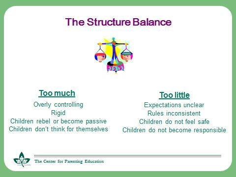 Balance between too much and too little structure