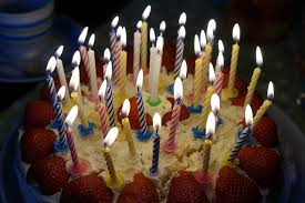 cake full of candles