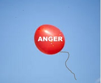 balloon labeled anger into air