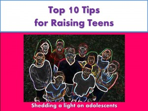 group of teens outlines in glow lights