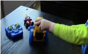 Toddler moving toy truck