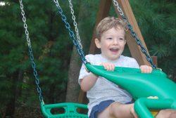 boy having fun outside
